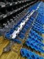 Подготовка кабельных тележек к производству 100 кабельных подвесок для круглого кабеля.